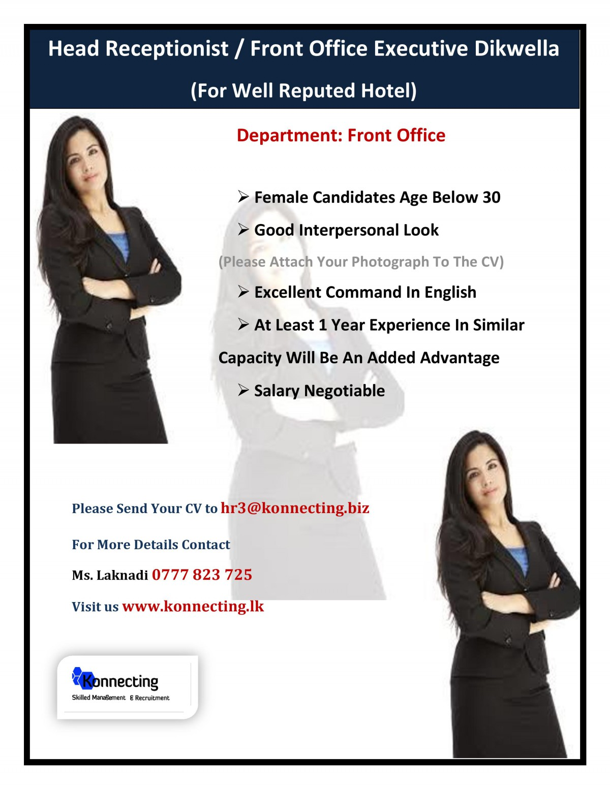 Head Receptionist / Front Office Hotel Executive