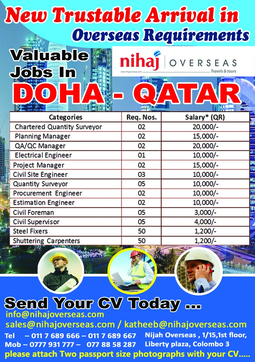 valuable jobs in doha