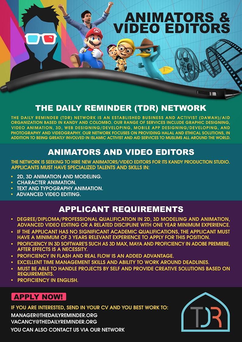 Animators Video Editors