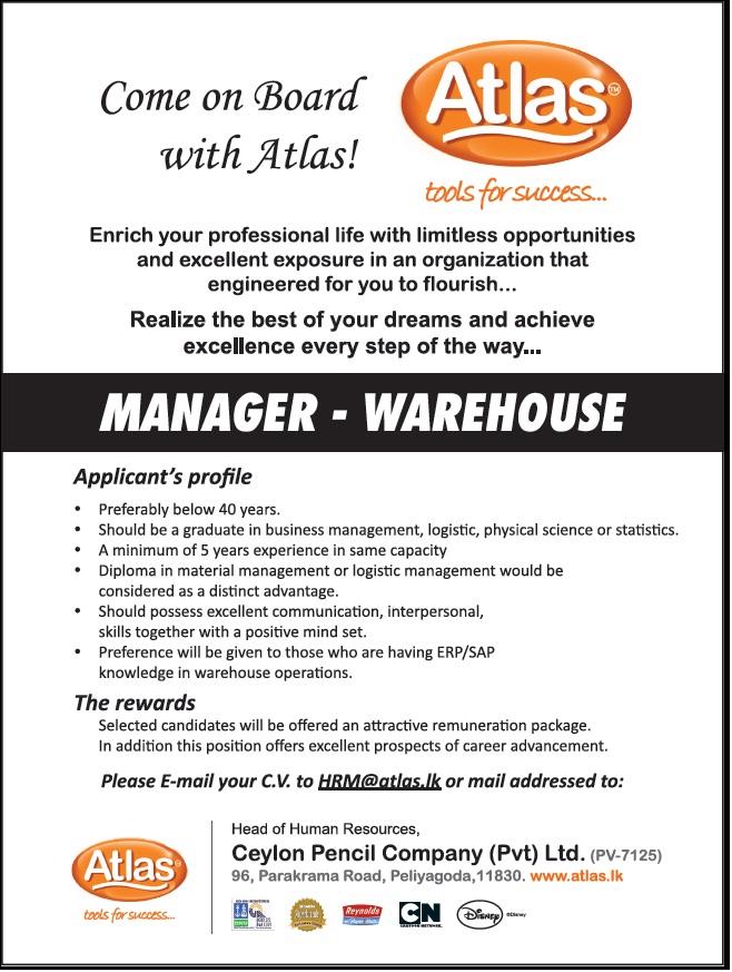 warehouse manager jobs warehouse manager job vacancy in