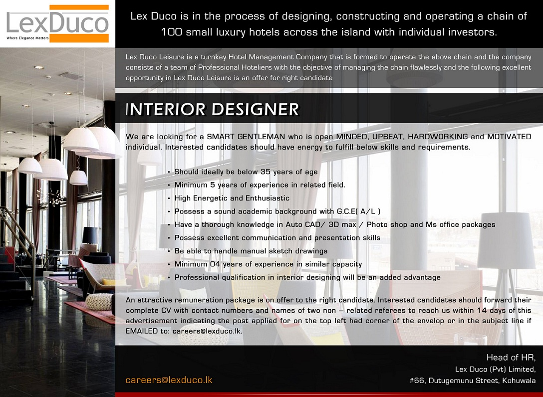 Interior Design Job Vacancies Billingsblessingbags Org