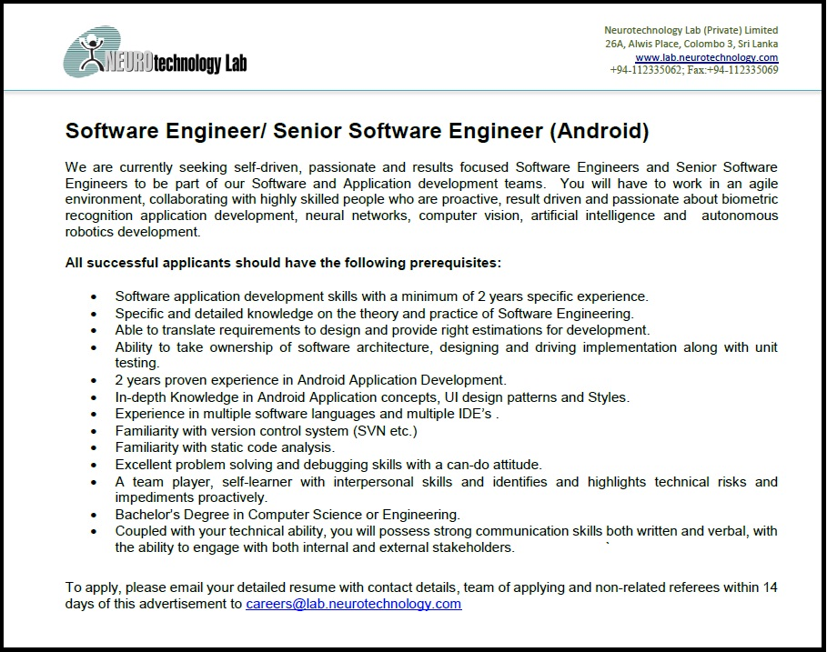 Senior software developer job description - Colorado marijuana sales ...