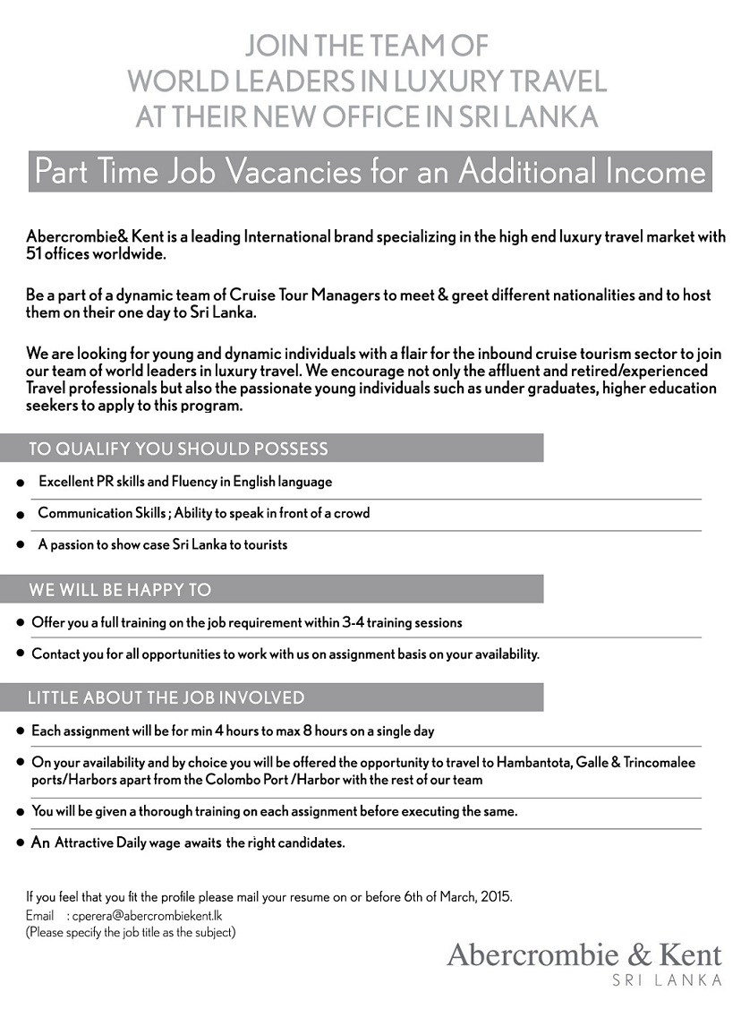 part time job vacancies