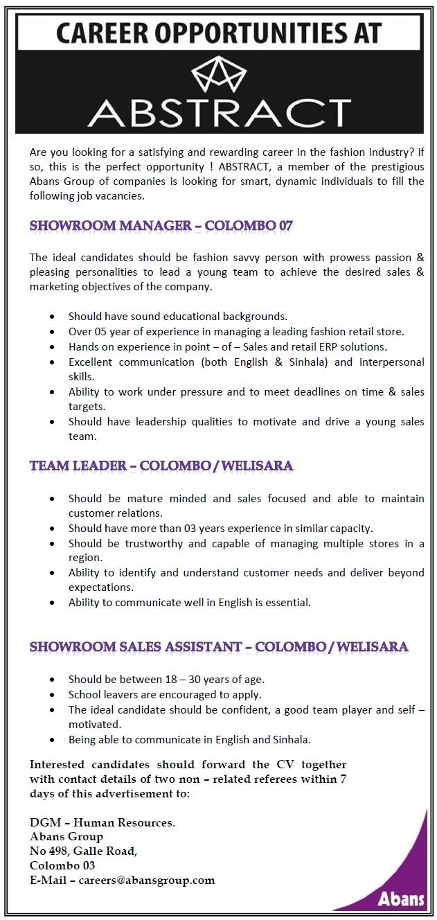 Fashion showroom assistant job description 79