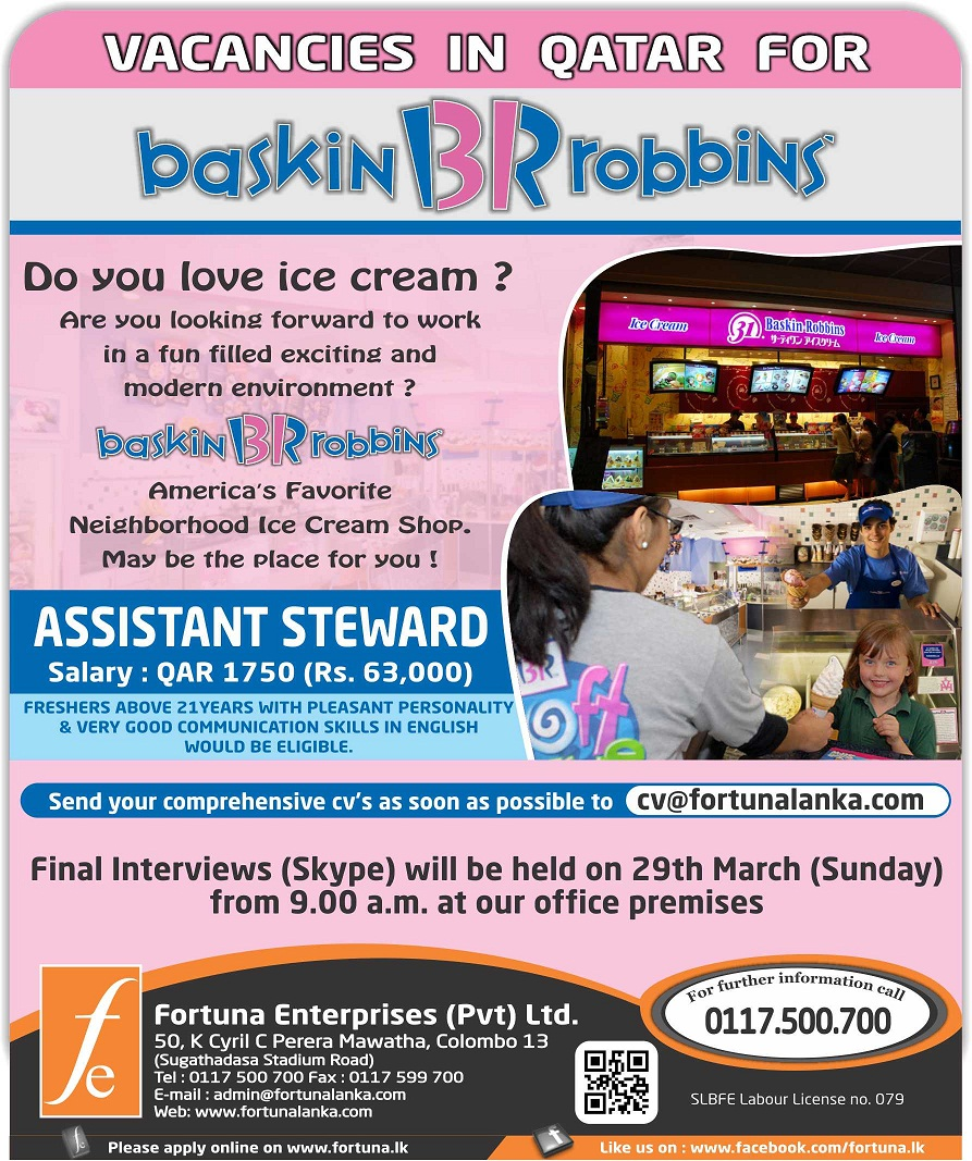 a marketing plan for baskin robbins in sri lanka Economynext – sri lanka's softlogic holdings group said it had acquired the franchise for baskin-robbins ice cream, which would help expand its retail and fast food restaurants business softlogic restaurants (private) ltd, a group subsidiary, had acquired the exclusive master franchise for baskin-robbins ice cream and its allied products in a deal with blue ginger (private) ltd, a stock exchanging filing said.