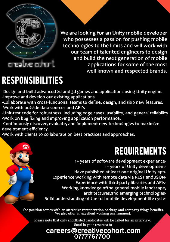 Skilled Unity 3D Game Developers