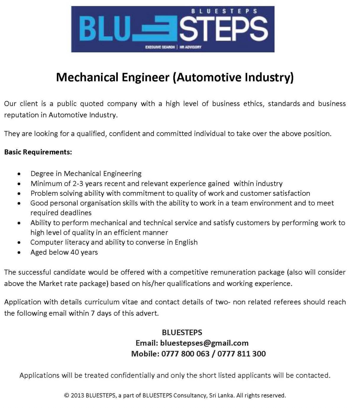20150413xBjitcpNUtxT6t0 Job Adver Sample For Mechanical Engineer on