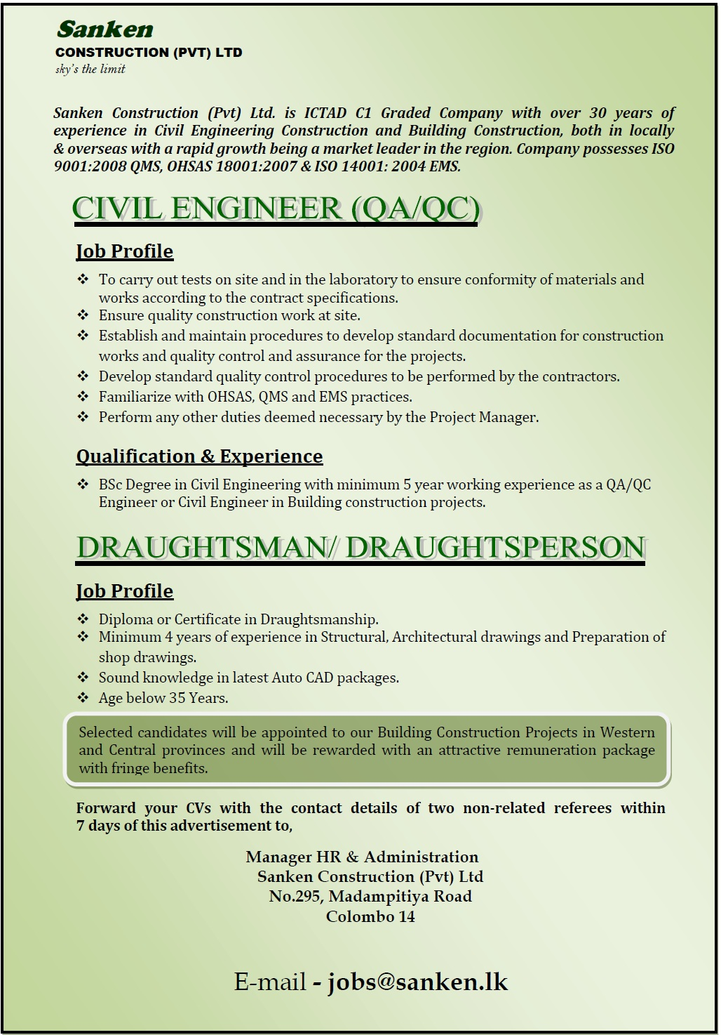 Draughtsman civil