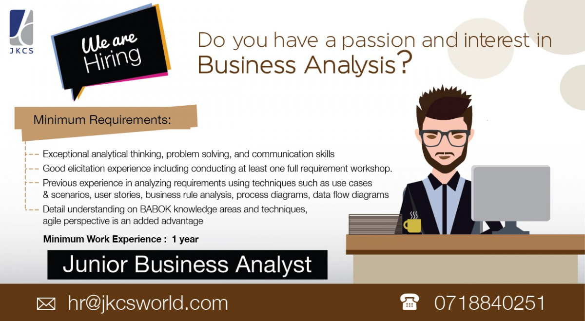 Junior Business Analyst Job Vacancy in Sri Lanka