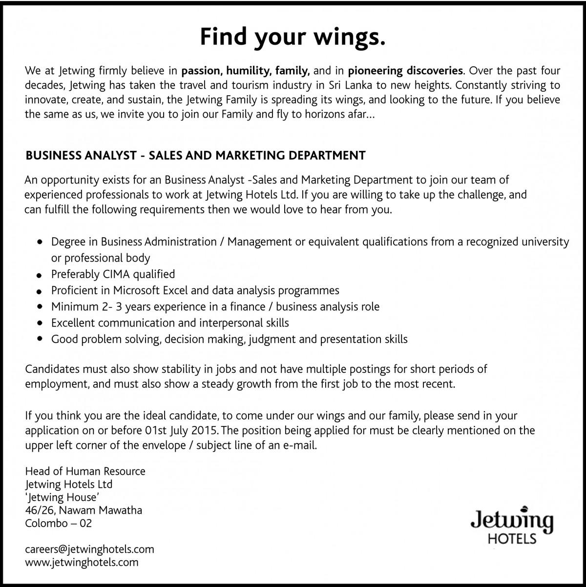 Jetwing Hotels Job Vacancy In Sri Lanka