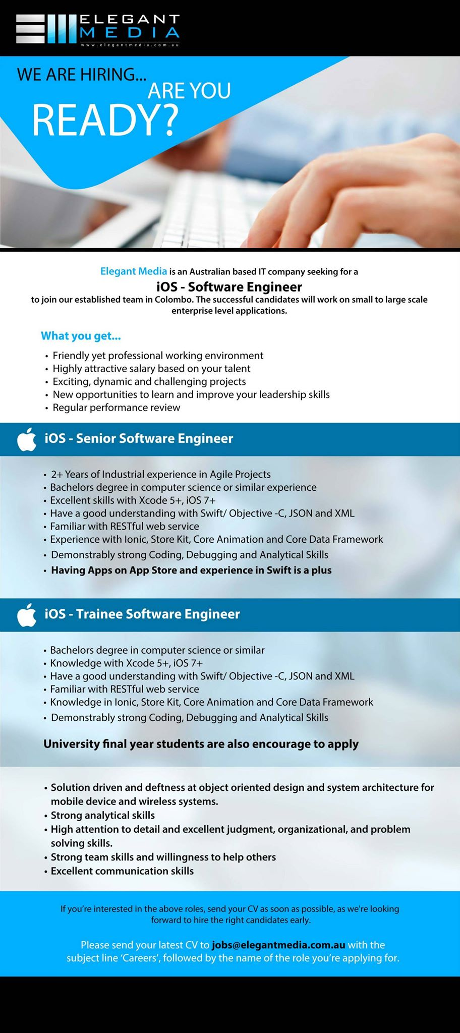 senior ios software engineer trainee ios software engineer job save for later