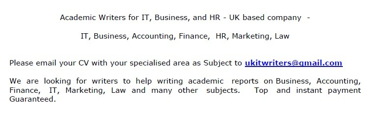 academic writers for it business hr job vacancy in sri lanka please email your cv your specialized area as subject to ukitwriters gmail com we are looking for writers to help writing academic reports on business
