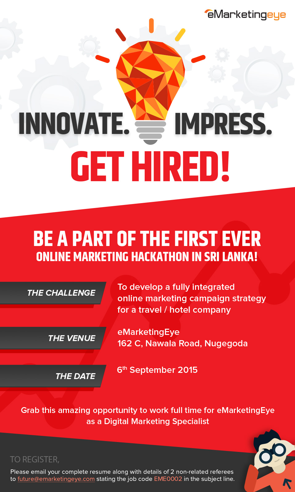 online marketing hackathon in sri lanka the challenge to develop a fully integrated online marketing campaign strategy for a travel hotel company - Online Marketing Specialist