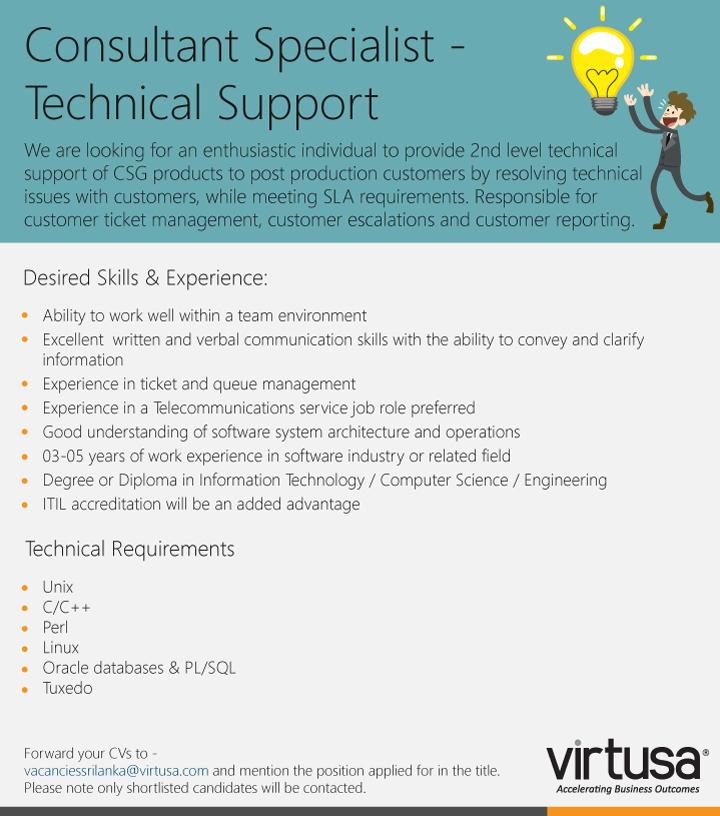 Technical Support Analyst Job Vacancy in Sri Lanka