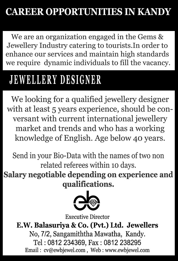Jewelry Design Jobs Nyc Style Guru Fashion Glitz Glamour