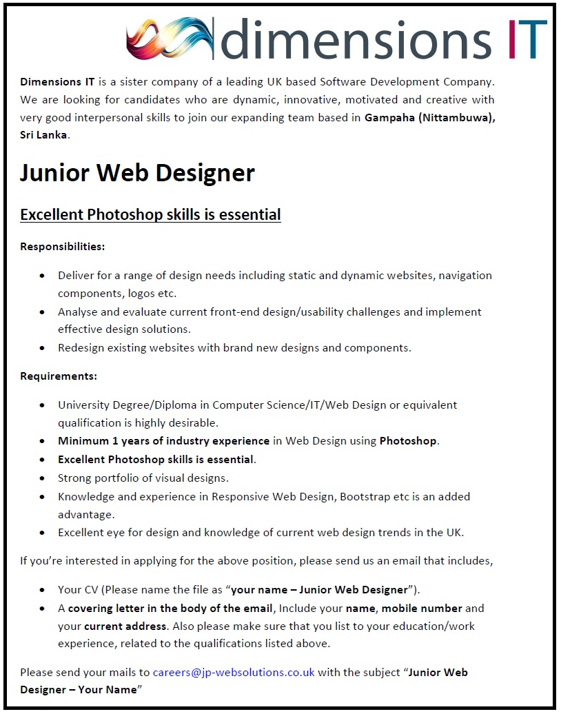 web graphic designer job description