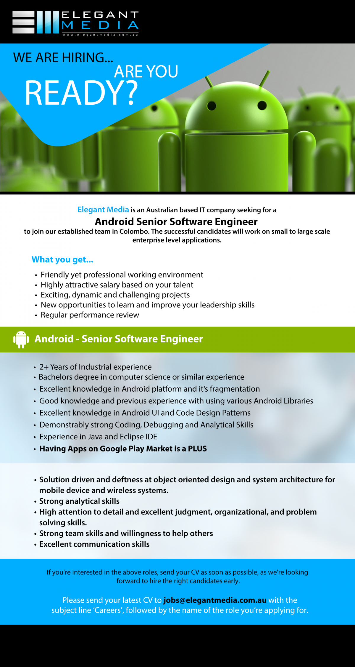 Android Senior Software Engineer 2019