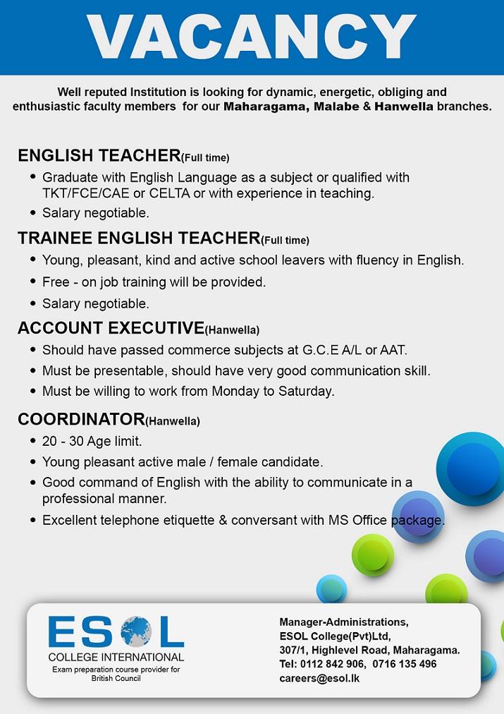 English Teacher / Trainee English Teacher