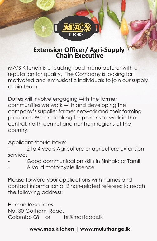 Extension Officer / Agri-Supply Chain Executive