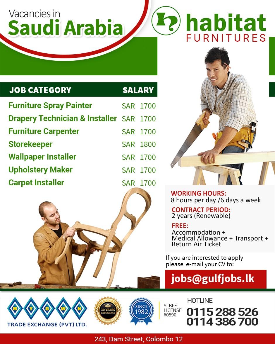 Furniture Carpenter Job Vacancy In Kerala - Collections