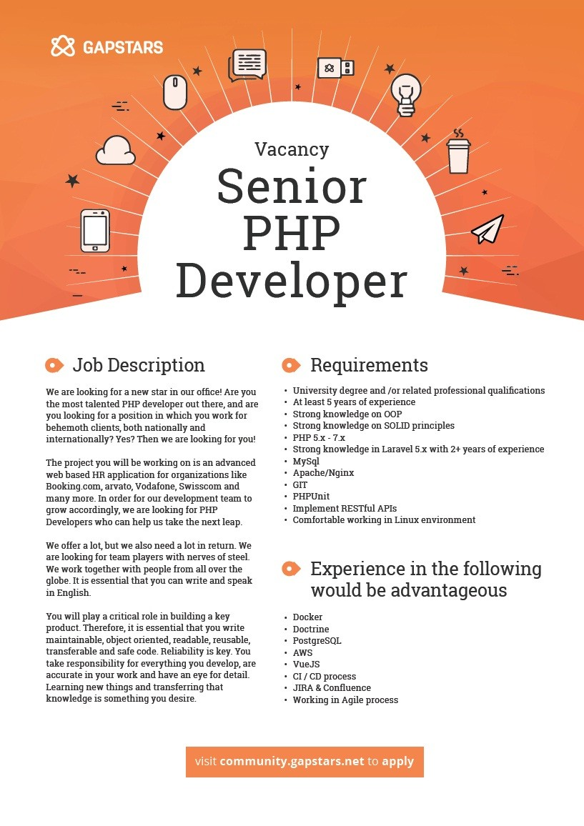 php developer job description