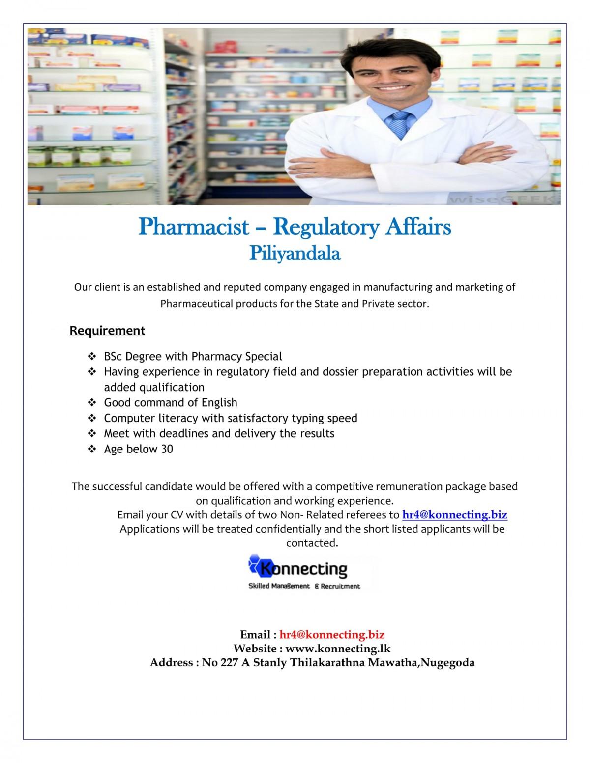 Pharmacist (Regulatory Affairs)