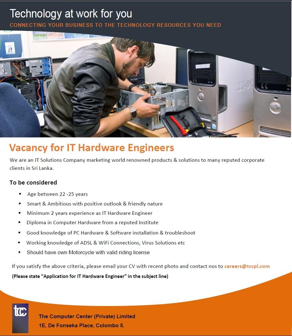 IT Hardware Engineers Job Vacancy in Sri Lanka