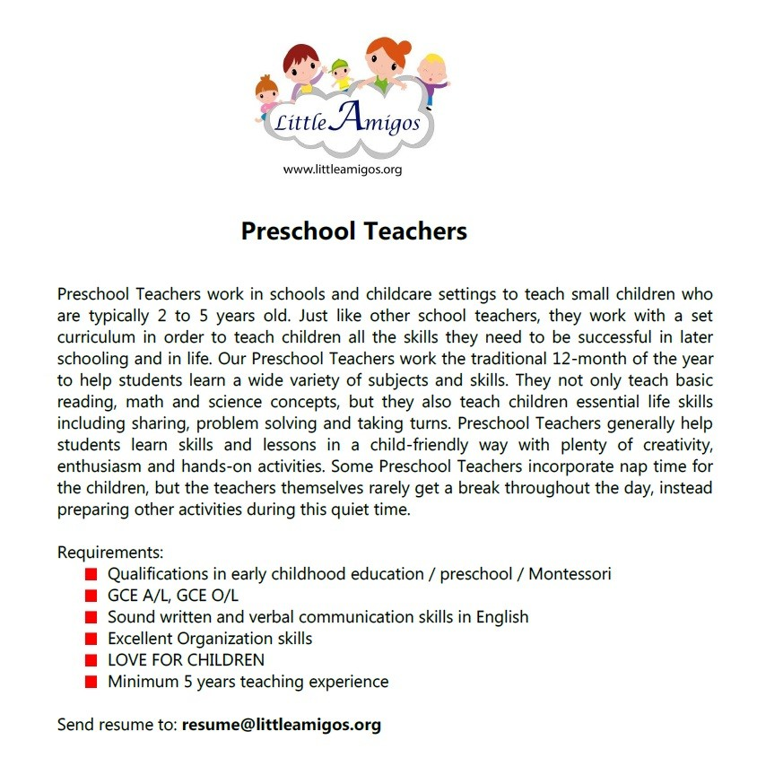 0reWJ7XuEX2WDO8 - Kindergarten Teacher Requirements