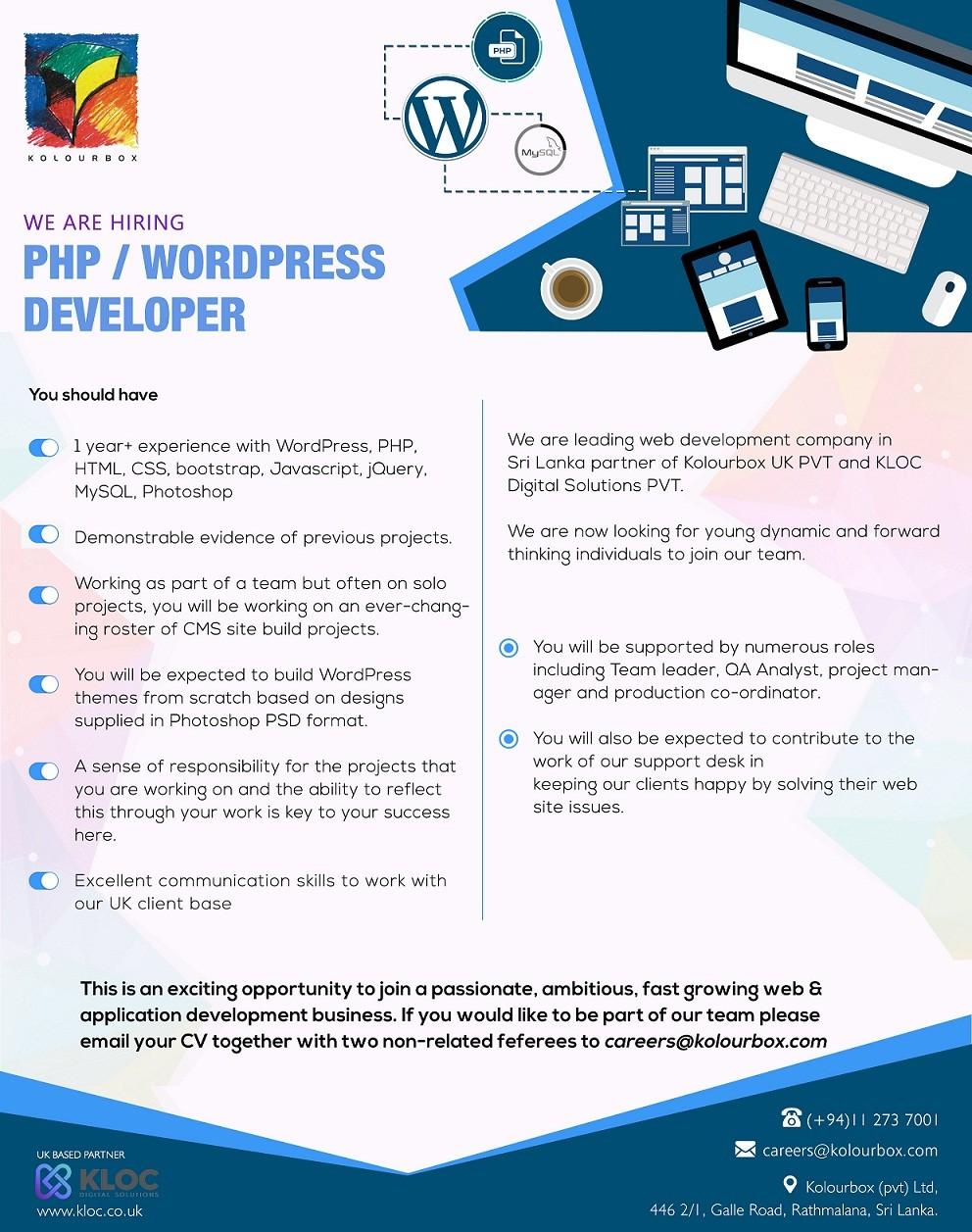 PHP / Wordpress Developer