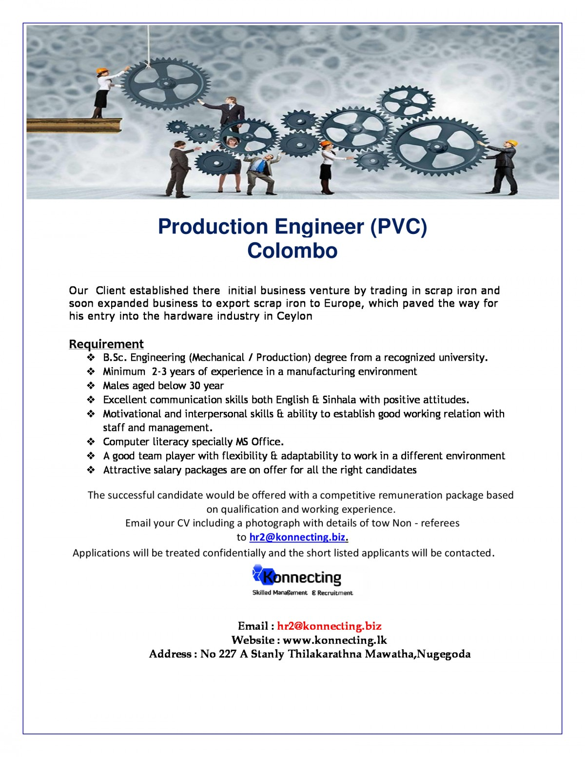 requirements bsc engineering mechanical production degree from a recognized university minimum 2 3 years of experience in a manufacturing - Production Engineering Job