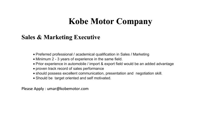 Sales  Marketing Executive Job Vacancy In Sri Lanka