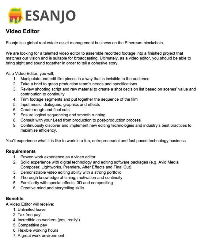 Video Editor Job Vacancy In Sri Lanka
