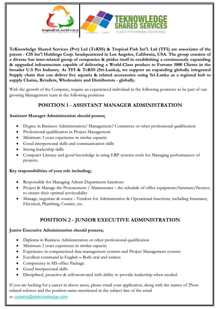 jobs for business administration degree