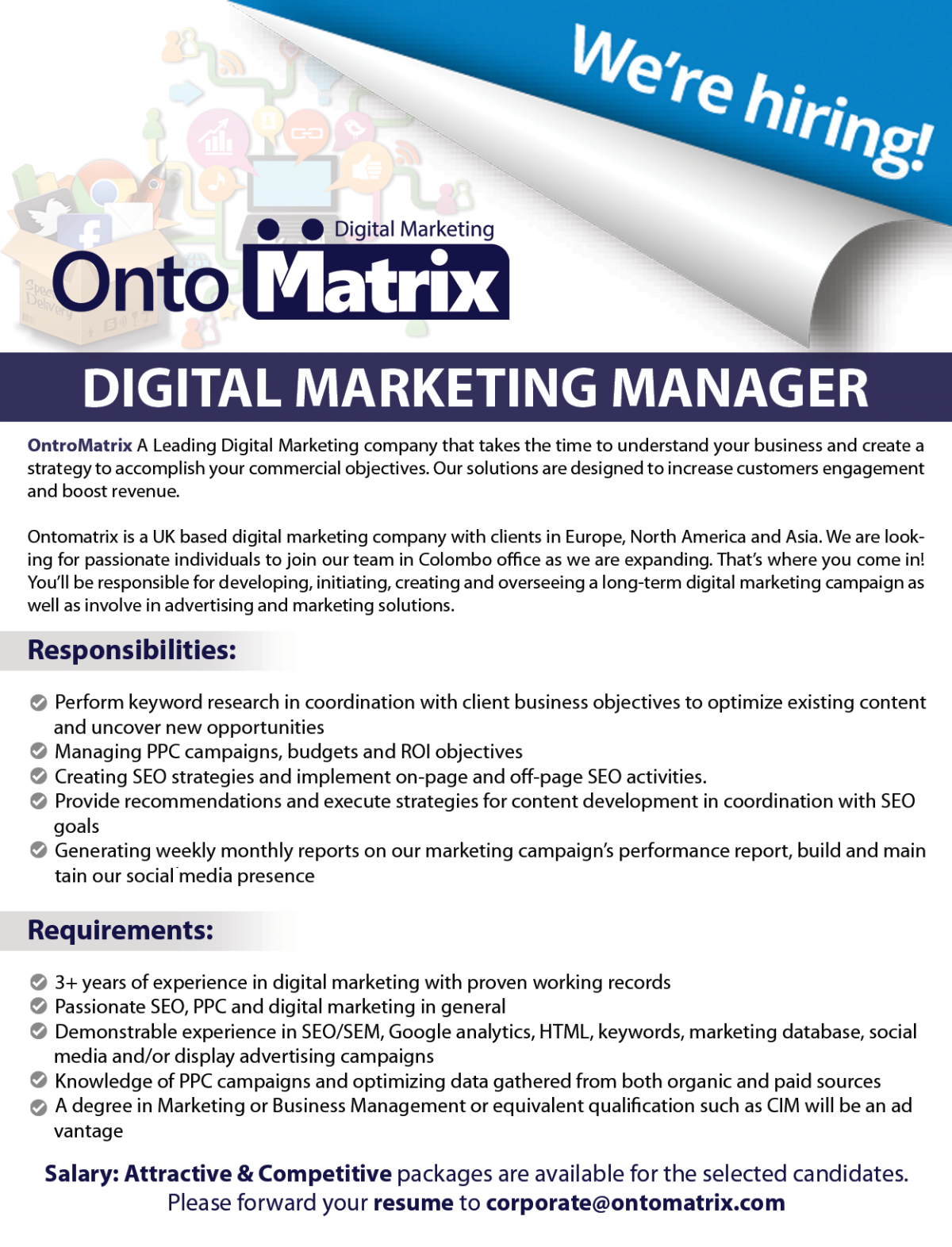 sample digital marketing resume outstanding cto resume for professionals