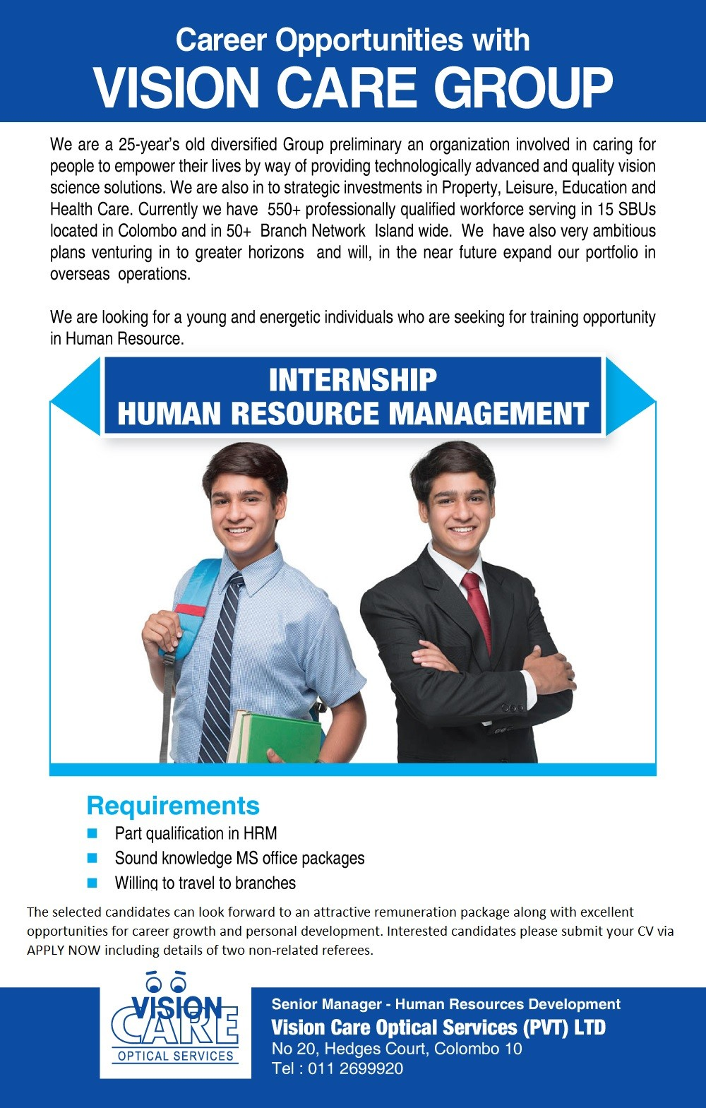 Internship Human Resource Management 2019