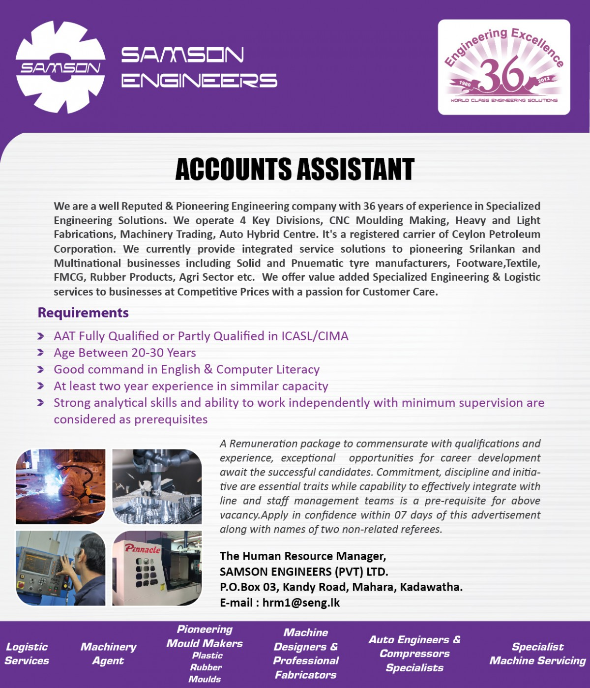 Account Assistant 2019