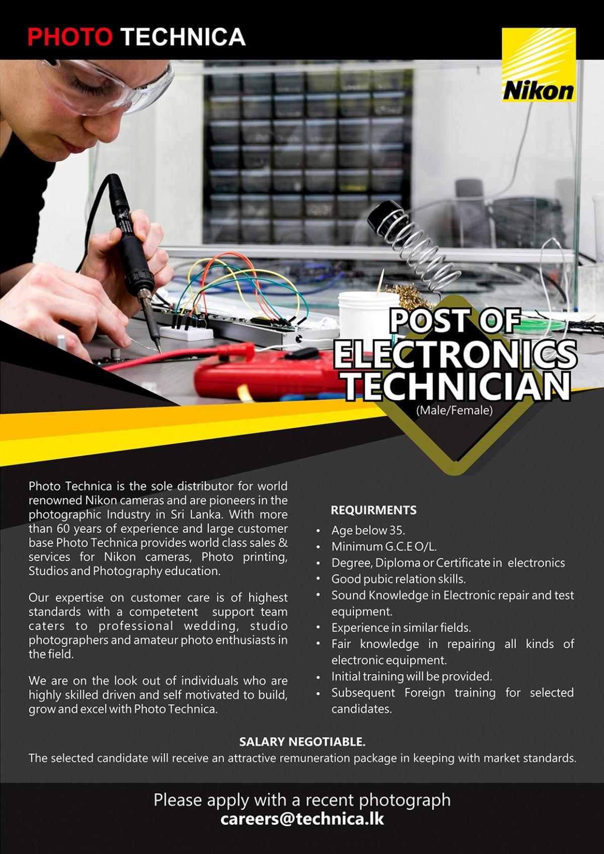 ELECTRONICS TECHNICIAN 2020