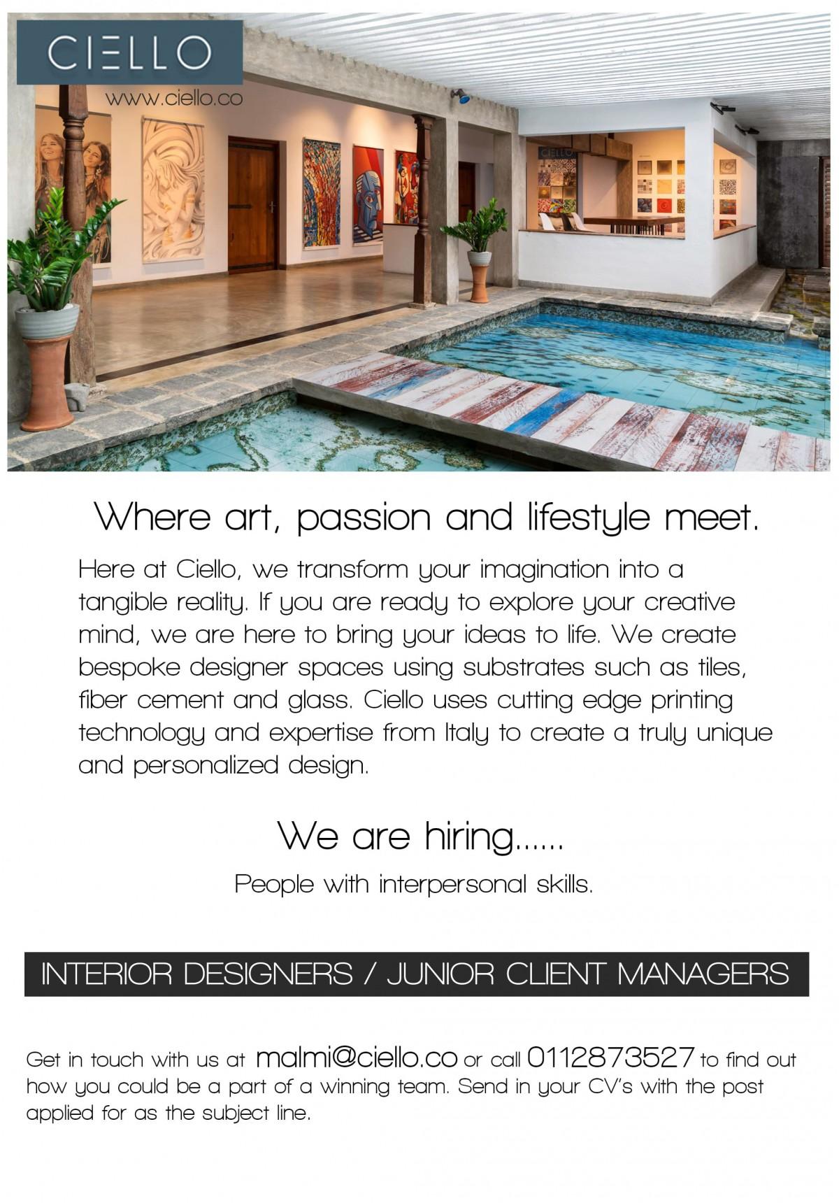 Interior Designer Junior Client
