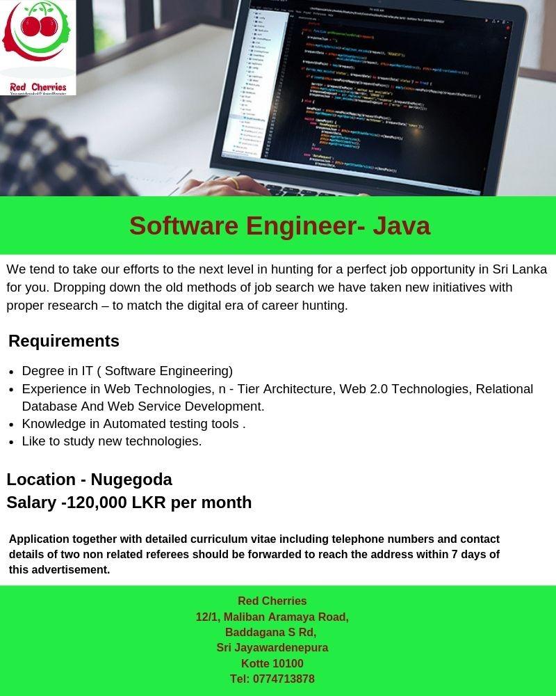 Software Engineer- JAVA 2019